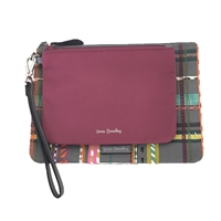 Vera Bradley Midtown Wristlet Duo Plaid Preppy Poly