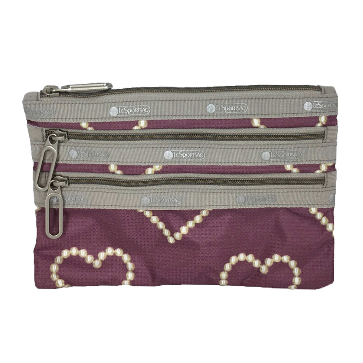 3 zipper makeup bag