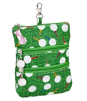 Sydney Love Sport Teed Off Print Clip On Zip Pouch