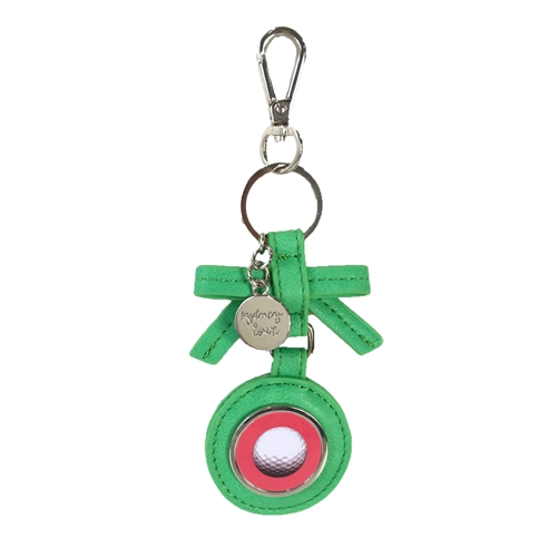 Sydney Love Sport Golf Teed Off Bow Keychain
