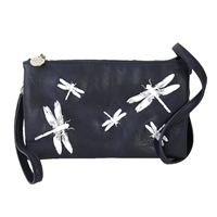 Sydney Love Embroidered Dragonfly Vegan Leather Crossbody