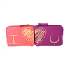 Vera Bradley I Love You Zip Pouch Cosmetic Case Boxed Set of 2