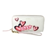 Vera Bradley Mallory XOXO RFID Leather Zip Wristlet Wallet