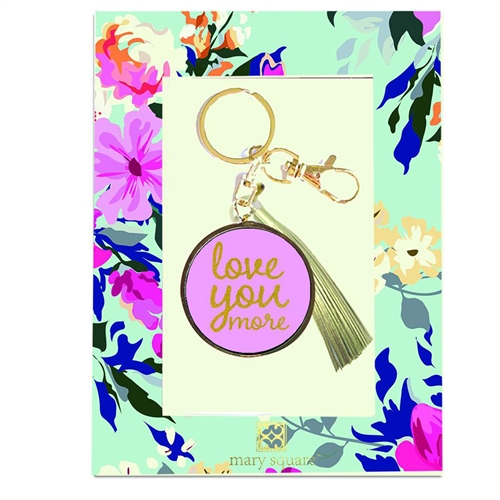 Love You More Inspirational Key Chain Bag Charm