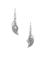 1928 Jewelry Filigree Leaf Drop Earrings