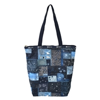LeSportsac Daily Tall Tote Denim Quilt