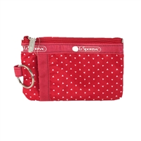 LeSportsac Zip ID Card Case Apple Seeds