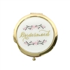Cherry Blossom Bridesmaid Round Mirror Compact