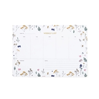 Botanical Weekly Planner Desk Pad 52 Pages