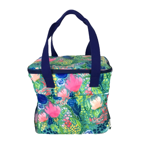 Tropical Mix Watercolor Insulated Beach Cooler Tote