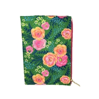 Madison Journal with Floral Canvas Cover w Zip Pen Pocket