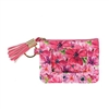 Savannah Floral Print Zip ID Card Case Key FOB