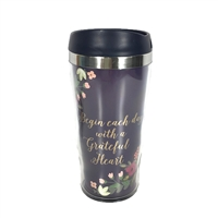 Begin Each Day With A Grateful Heart Travel Mug
