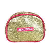 Marilyn Monroe Beautiful Glitter Dome Cosmetic Case