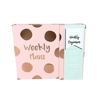 Weekly Plans Polka Dot Weekly Planner Organizer