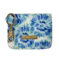 Mary Square Tie Dye ID Card Case Campus Wallet Key Fob