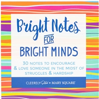 Bright Notes for Bright Minds Booklet Book of 30 Inspirational Mini Cards