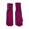 Michael Kors Button Up Long Knit Gloves