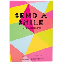Send a Smile Postcard Book of 20 Inspirational Postcards