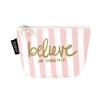 Fashion Culture Believe Striped Coin Purse