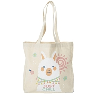 Just Chill Llama Kids Packable Eco-Friendly Canvas Tote