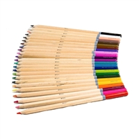 Live Colorully Colored Pencil 50 PC Set w 48 Pencils, Sharpener & Pouch