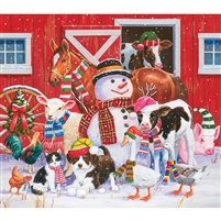 Ready For Winter Barnyard Animals 300 Large Piece Jigsaw Puzzle