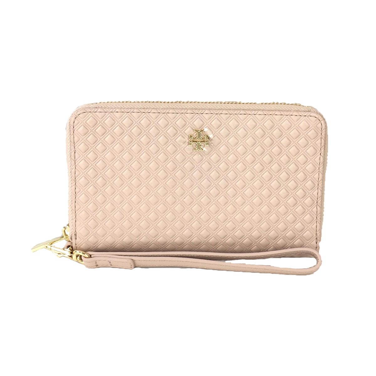 wholesale dealer fb6c4 dedc6 Tory Burch Marion Leather iPhone X 8 7 Wristlet Wallet, Light Oak
