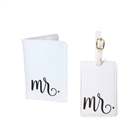 Mr. Script Vegan Leather Travel Passport & Luggage Tag Set