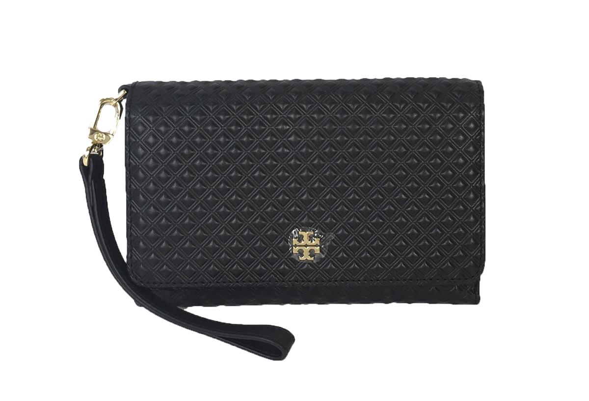 0ada056ae534 Tory Burch Marion Embossed Leather Convertible Clutch iPhone ...