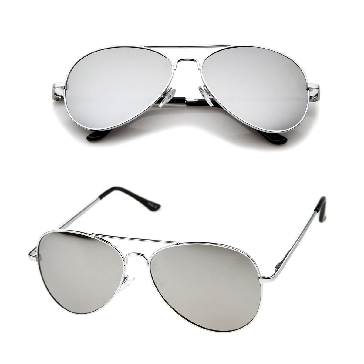 a8b9764feb5e Fashion Culture Alpha Mirrored Lens Aviator Sunglasses