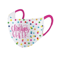 Christmas Cheer Holiday Print Reusable 3D Face Covering