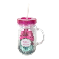 Mermaid Hair Don't Car Mason Jar Travel Cup Gift Set