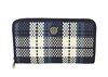 Tory Burch Robinson Plaid Zip Continental Wallet
