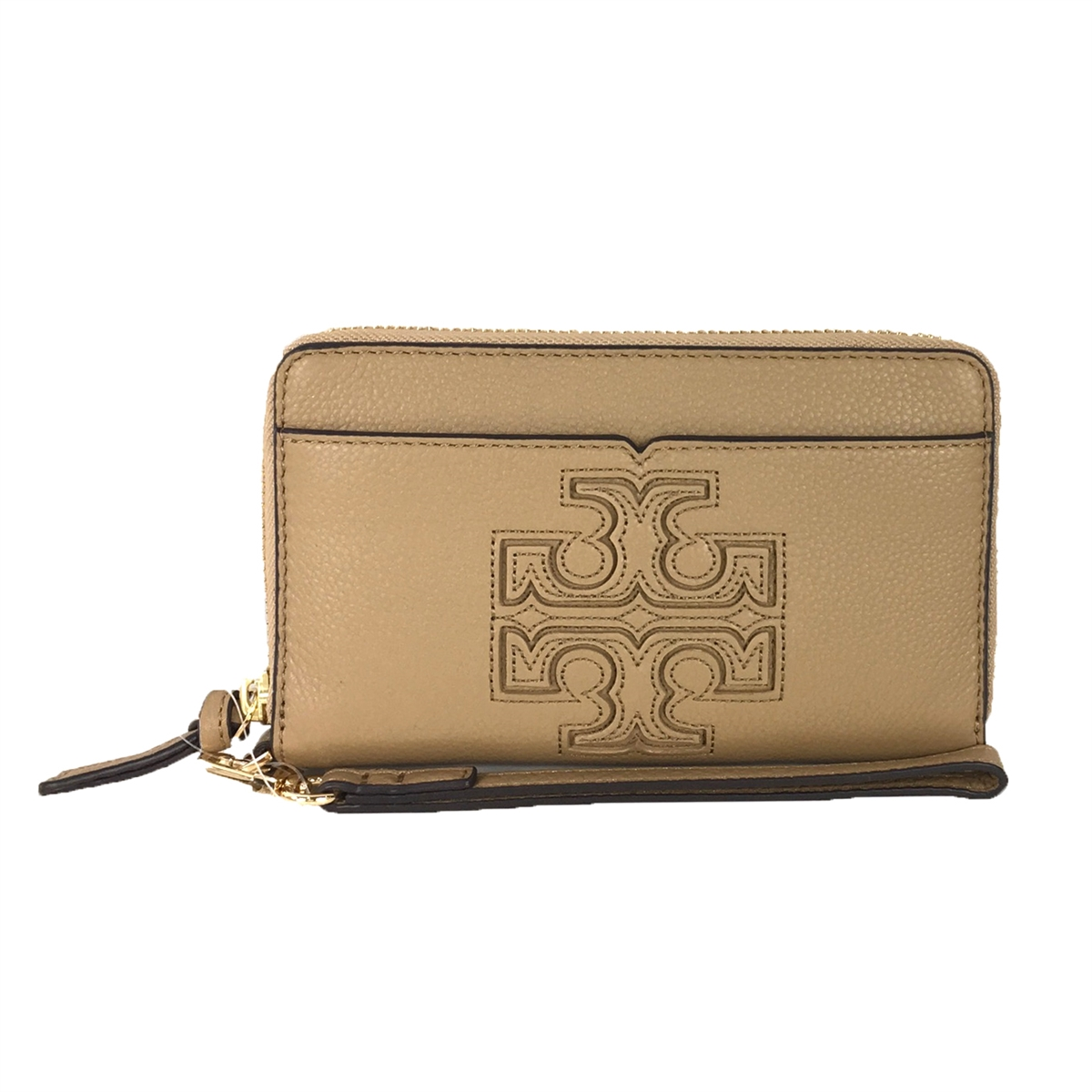 check out 39b1c 16391 Tory Burch Harper iPhone 7 / 6 Leather Wristlet Wallet, Vintage Camel