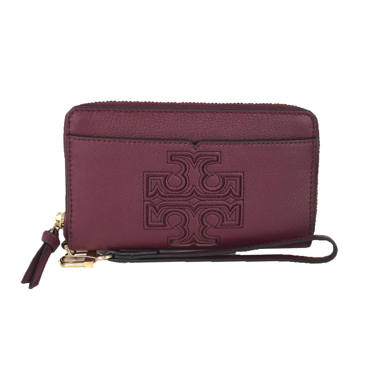 aa22d266159a9 Tory Burch Harper iPhone 7   6 Leather Wristlet Wallet
