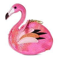 Pink Flamingo Glittering Coin Purse Bag Charm