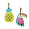 Tropical Toucan Bird & Pineapple Duo Luggage Tag Set