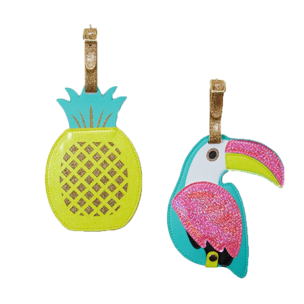 2 Pack Luggage Tags Pineapple Handbag Tag For Travel Tags Accessories