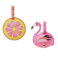 Tropical Pink Flamingo & Citrus Fruit Slice Duo Lu