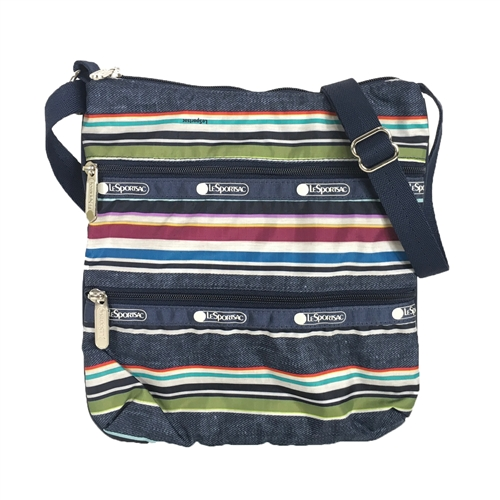 LeSportsac Kylie Crossbody Bag Indigo Stripe