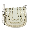 Tory Burch Mirrored Medium Leather Saddle Bag