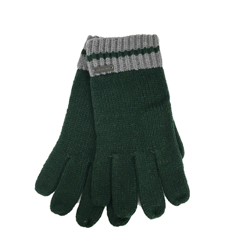 Michael Kors Striped Trim Knit Gloves