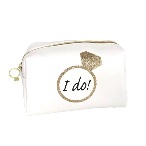 I Do Brial XL Zip Travel Cosmetic Loaf Case