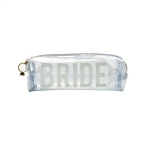 Bride Transparent Rectangular Zip Travel Cosmetic Case