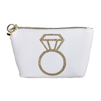 Diamond Enagement Ring Zip Cosmetic Case