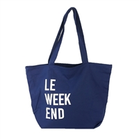 Le Weekend Large Canvas Tote Packable Bag