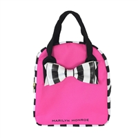 Marilyn Monroe Striped Bow Eco-Friendly Insulated Lunch Tote