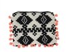New Look Aztec Print Knit Pom Pom Coin Purse