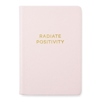 Radiate Positivity Vegan Leather Bound Hardcover Journal